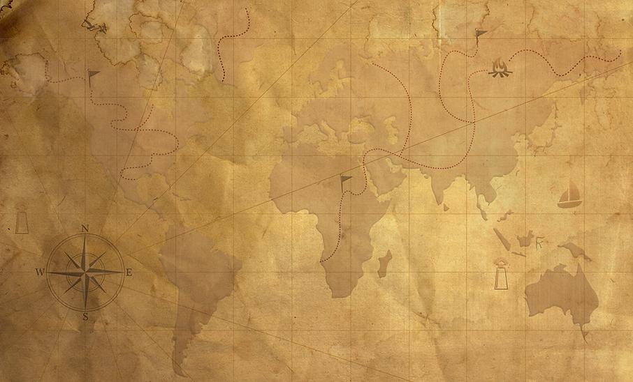 Vintage Mappa Trasparenza