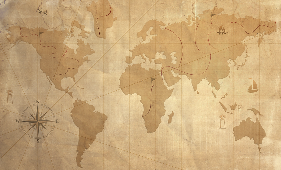 Vintage Map Transparency