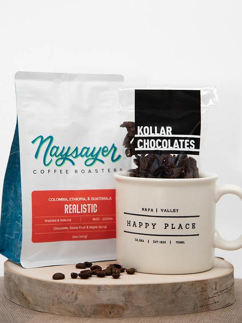 Napa Valley Happy Place Mug, Coffee & Chocolate Gift
