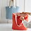Thumbnail: Coral Washed Linen Tote