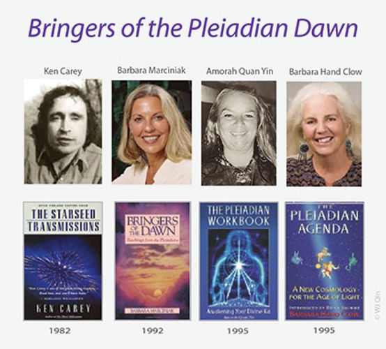 Bringers of the Pleiadian dawn; Ken Carvey, Barbara Marciniak, Amorah Quan Yin, Barbara Hand Clow
