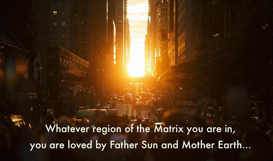 Sunrise inside the Matrix