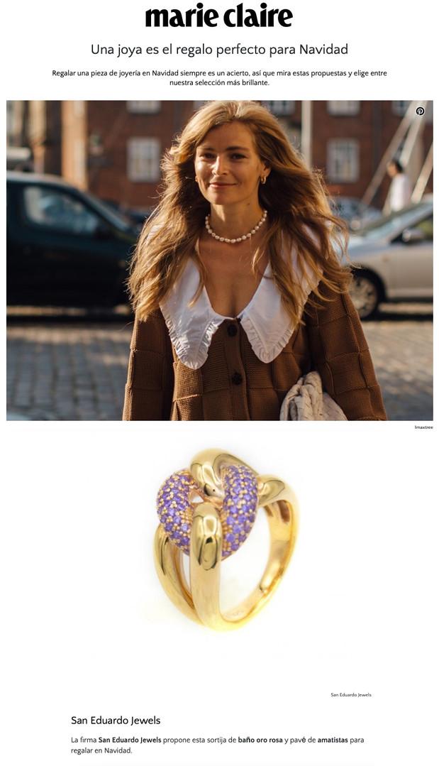 San Eduardo Jewels en Marie Claire
