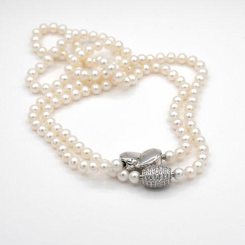 Collar Perlas. Plata 1ª Ley.