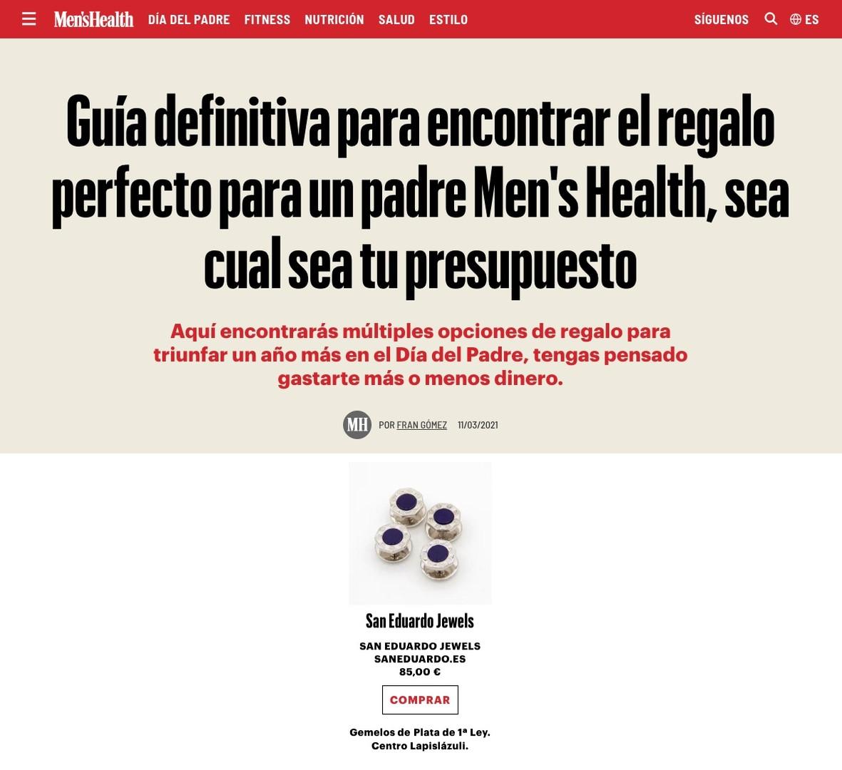 San Eduardo Jewels en Men's Health