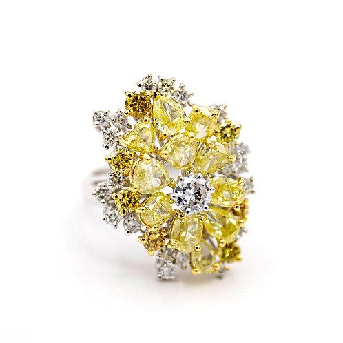 Sortija Oro Blanco 18 kt. Diamantes