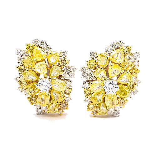 Pendientes Oro Blanco 18 kt. Diamantes