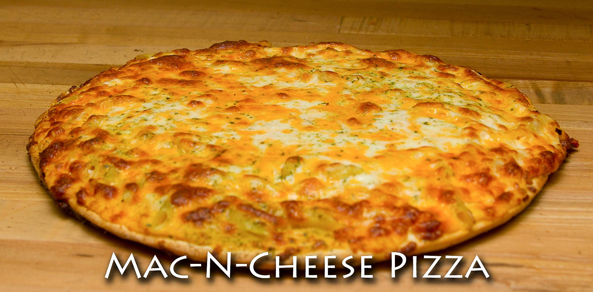 Mac-n-Cheese Thin Crust Pizza