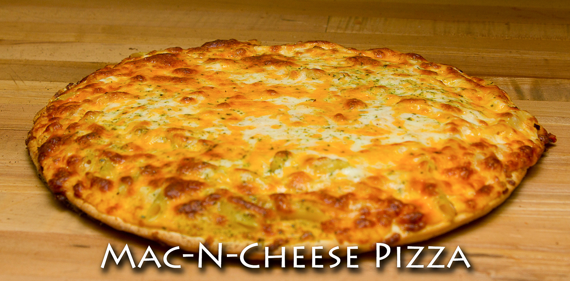 Mac-n-Cheese Thin Crust Pizza