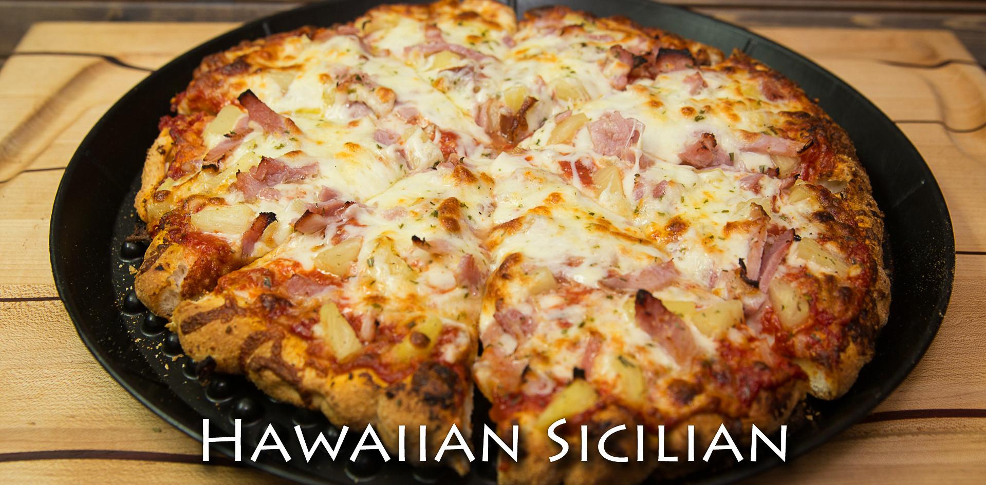 Hawaiian Sicilian Pizza