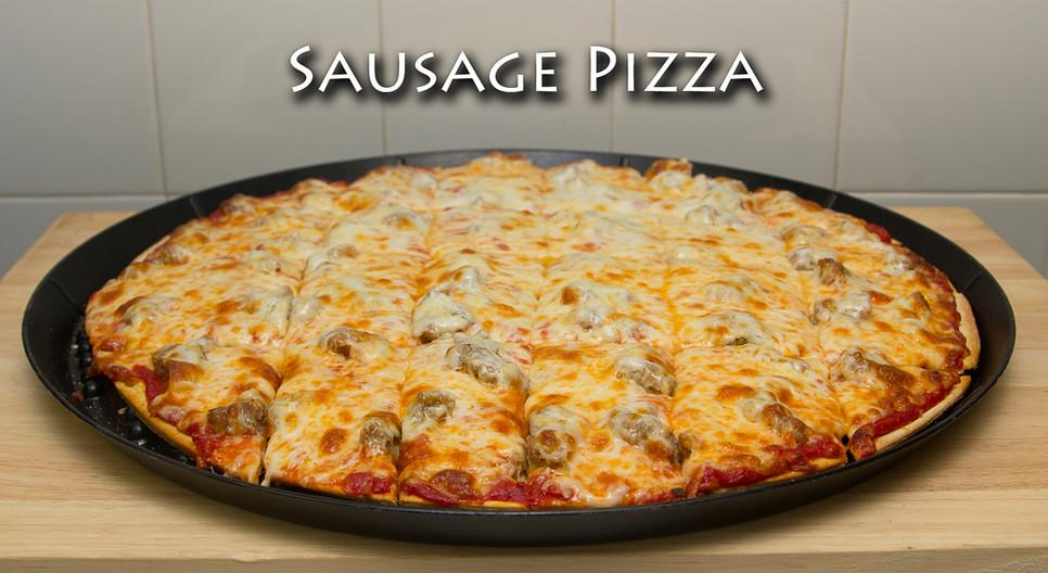 Sausage Thin Crust Pizza