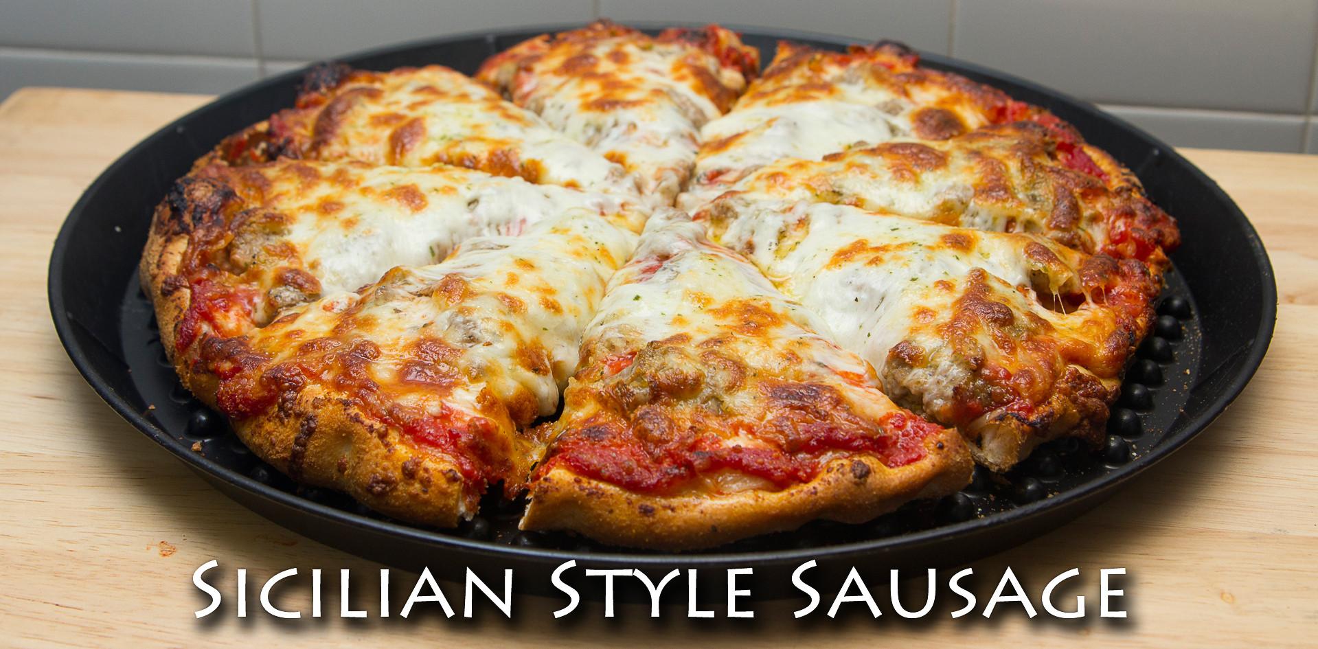 Sicilian Style Sausage Pizza
