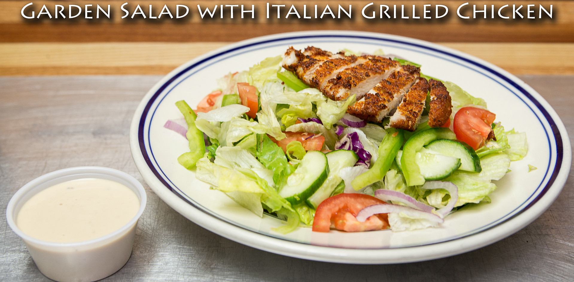 Garden Salad with Italian Grilled Chicken