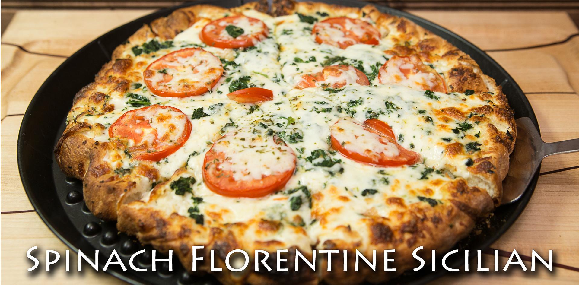 Spinach Florentine Sicilian Pizza