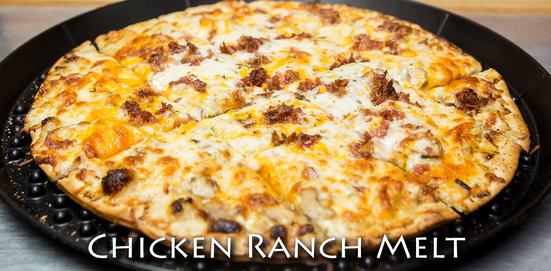 Chicken Ranch Melt Thin Crust Pizza