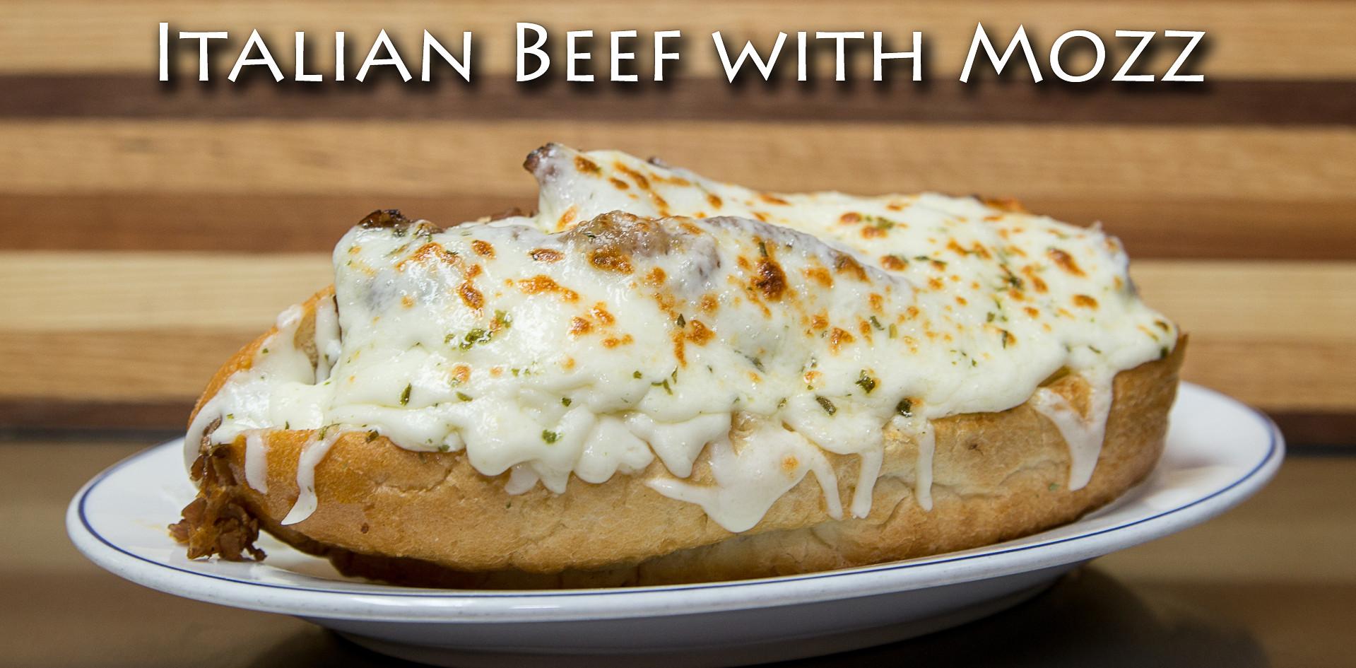 Italian Beef Sandwich with Mozzerella