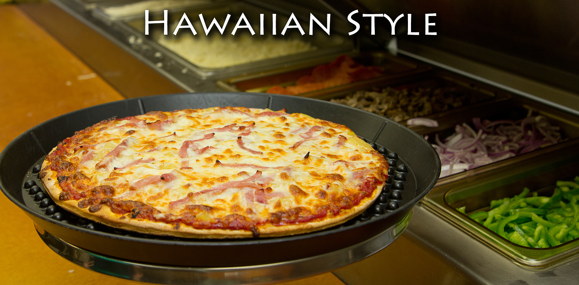 Hawaiian Style Thin Crust Pizza