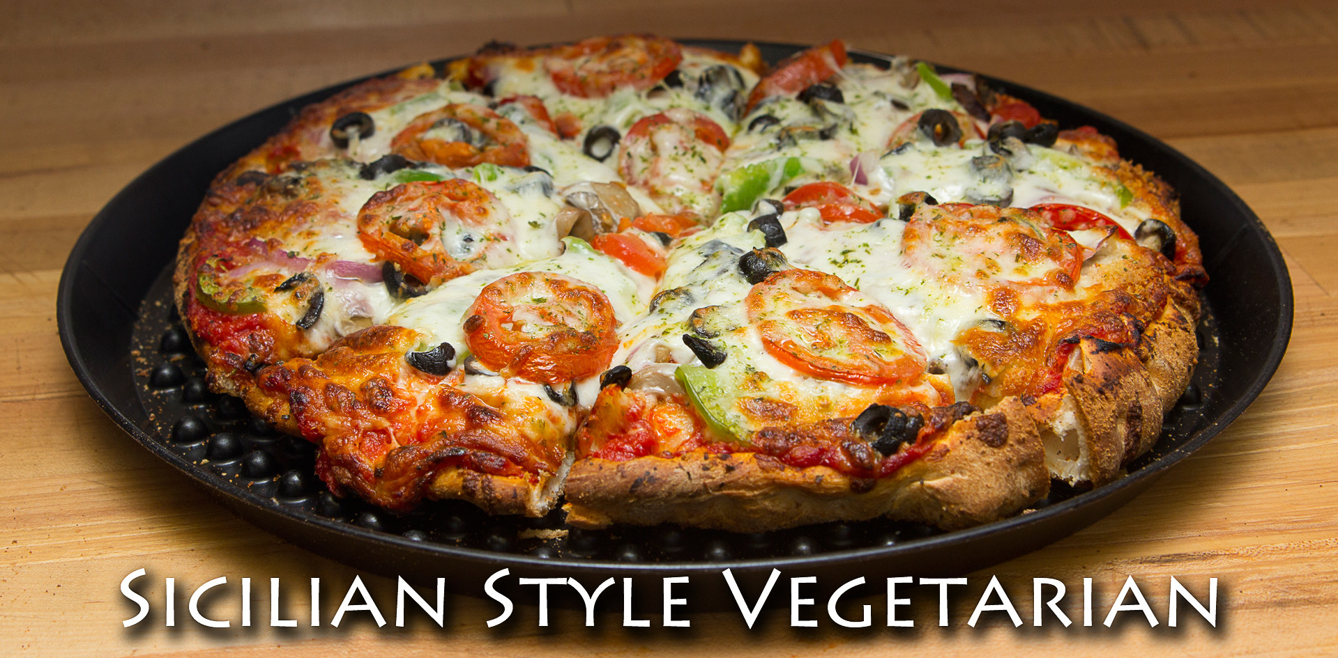 Sicilian Vegetarian Pizza