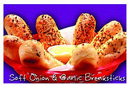 Soft Onion & Garlic Breadsticks