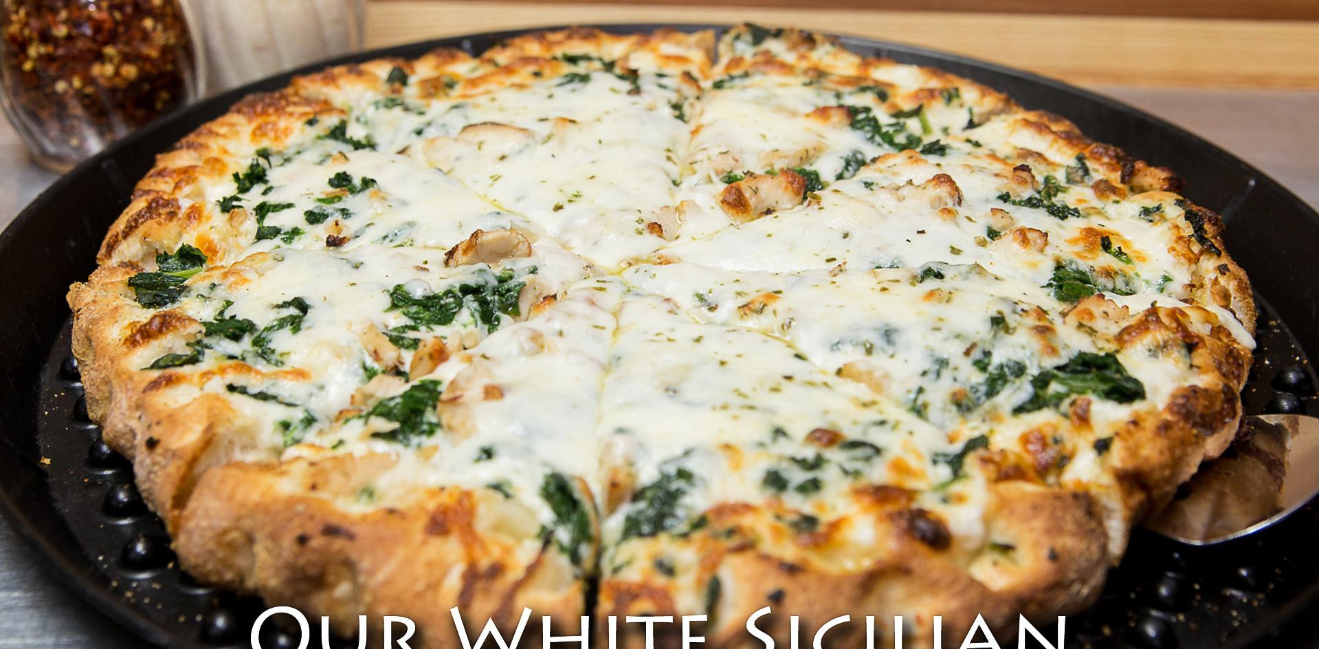 White Sicilain Pizza