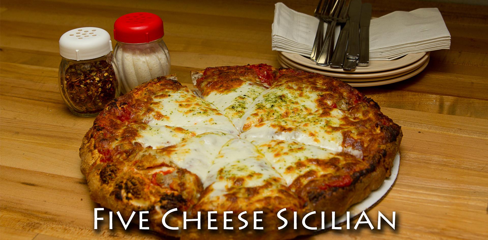 Five Cheese Sicilain Pizza
