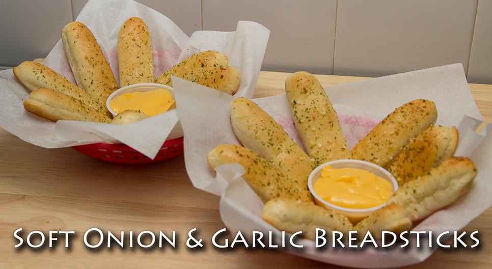 Soft Onion & Garlic Breadsticks