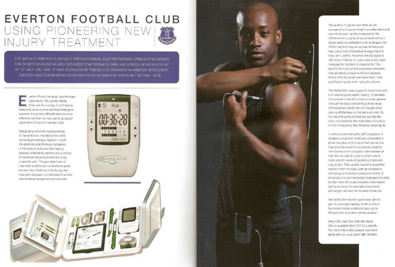 Everton Football Club uses Alpha-Stim