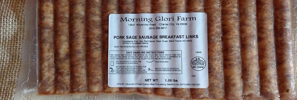 breakfast links, pork, sage, farm raised pork, sausage