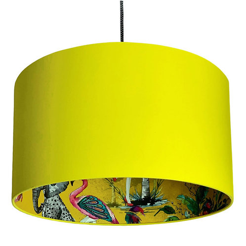 Mustard ChiMiracle Wallpaper Silhouette Lampshade in Buttercup Yellow
