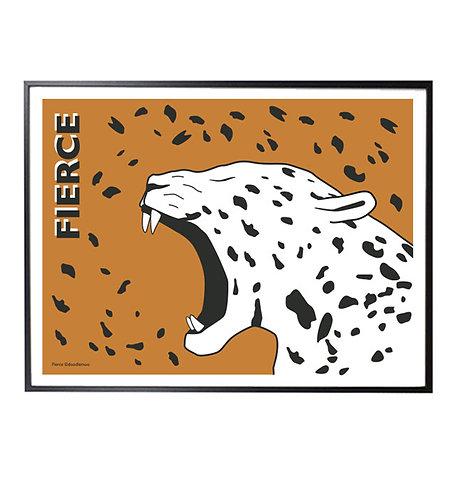 FIERCE Jaguar print; brown