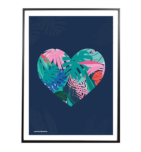 TOPICAL LOVE; heart print/poster