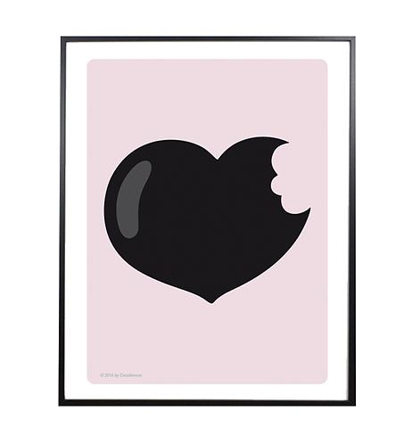 LOVE BITE Print; pink