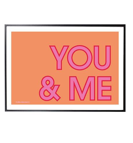 YOU&ME orange print