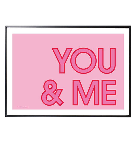 YOU&ME pink print