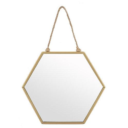 Small Gold Geometric Mirror