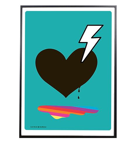 Heart Print; 'Love Struck' blue
