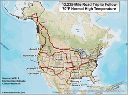 A 13,235-Mile Road Trip for 70-Degree Weather Every Day