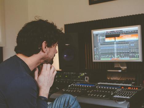 In the studio......