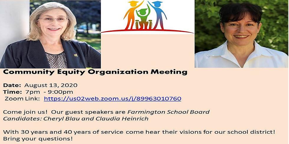Community Equity Meeting - 8/11/2020