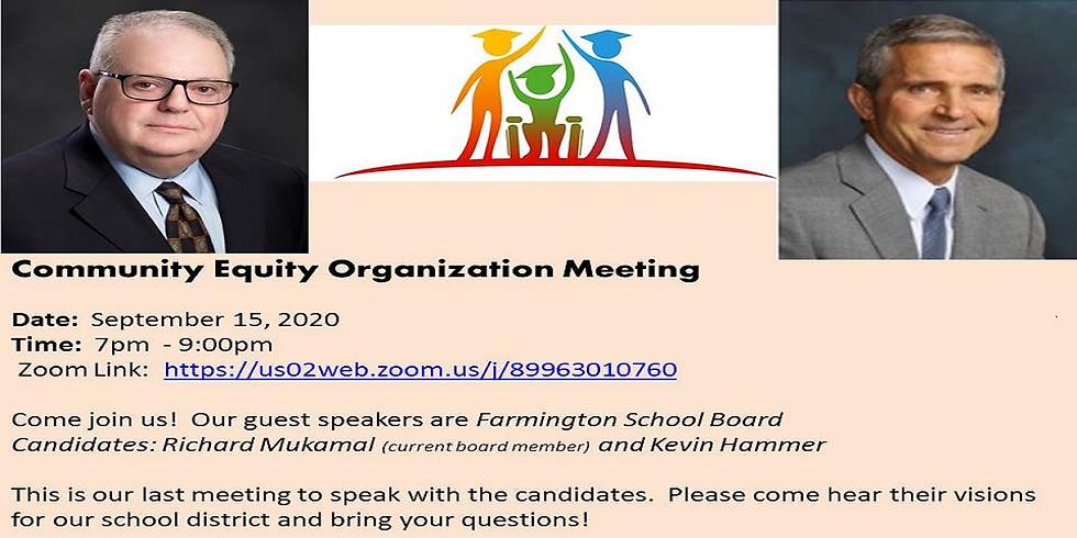Community Equity Meeting - 9/15/2020