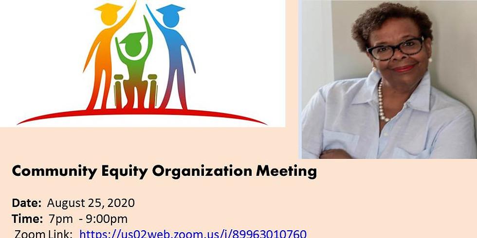 Community Equity Meeting - 8/25/2020