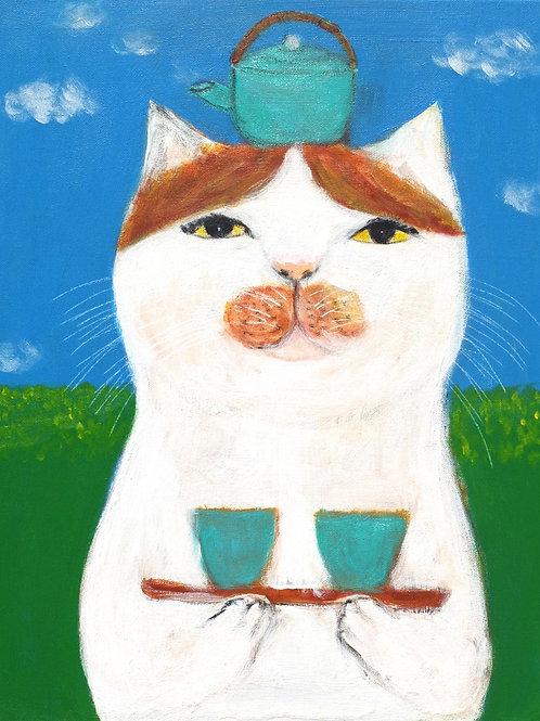 """Japanese tea Cat"""