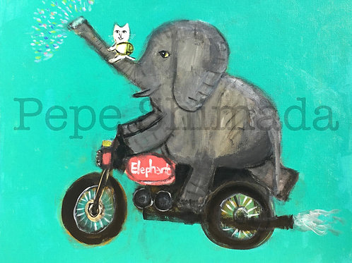 """""""Elephant and Cat trip"""""""