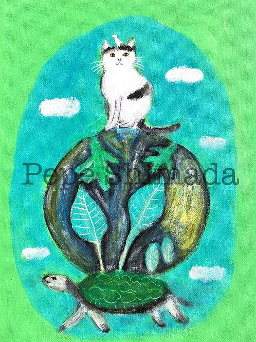 """Organic Cat world"" 「オーガニック猫世界」"