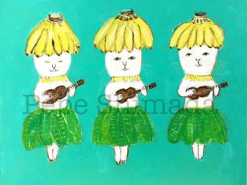 """""""Ukulele Banana Cat girls"""""""