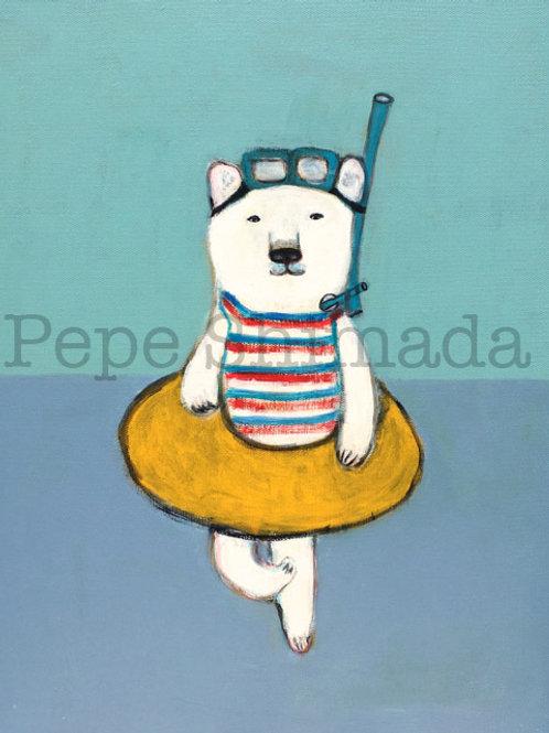 """Tricolor Summer Polar Bear"""