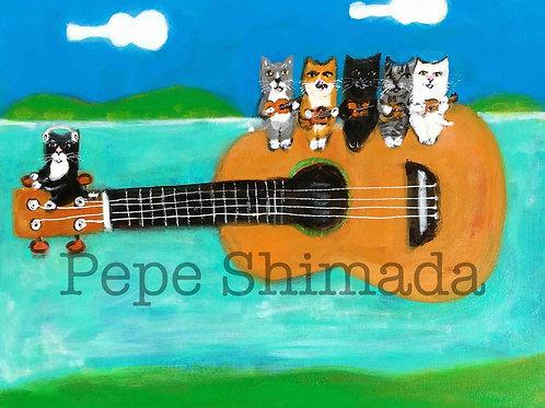 """""""Ukulele Airplane Cats"""""""