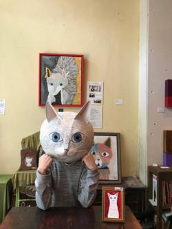 若き猫画家