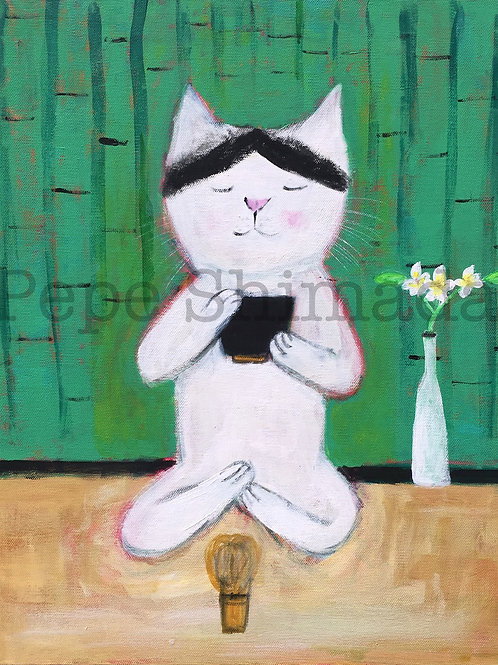 """Tea ceremony Cat"""