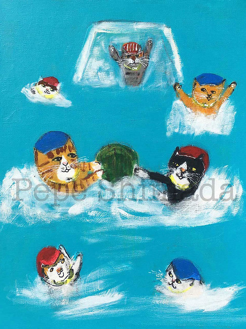 Watermelon Polo Cats